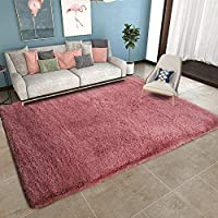 YOH Super Soft Blush Pink Area Rug for Girls Room Baby Nursery Childrens Room Rug Fluffy Carpet Rugs Floor Area Rugs Decorative for Living Room Bedrooms (5'3''x7'7'',Blush)