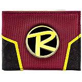 DC Comics Batman Robin Logo Crest Rouge Portefeuille