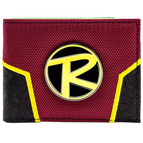 DC Comics Batman Robin Logo Crest Rot Portemonnaie Geldbörse