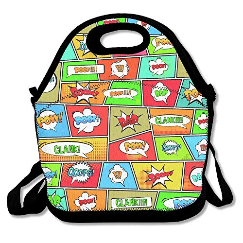 b65e25b43217 Clank Pop Art Style Lunch Bags Lunch Tote Lunch Box Handbag For Kids And  Adults