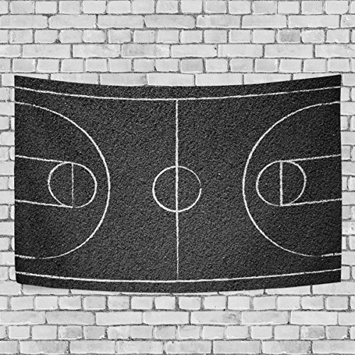 COOSUN Street Basketball Court Tapestry Wall Hanging for Home Wall Decorative for Living Room Bedroom Dorm Decoration, 80