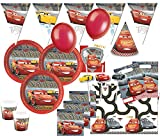 XXL 72 Teile Disney Cars 3 Party Deko Basis Set 6-8 Kinder