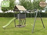 EXIT Aksent Spielturm + Anbauschaukel / Material: Nordische Fichte / Maße: 323x401x297 cm / 116 kg