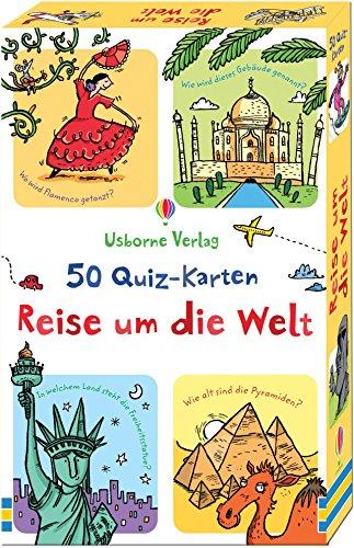 Preisvergleich Produktbild 50 Quiz-Karten: Reise um die Welt
