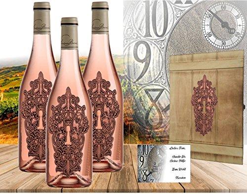 100% Vintage Rosewein | 3er Geschenkset Moment Clé Rosé | limitiert auf 5.000 Flaschen | Der beste Rosé Frankreichs im edeln Geschenkset | Vintage Weine aus dem Bordeaux der Adelsfamilie Jany | Eine echte Alternative zum Jollie-Pitt Miraval oder dem Whispering Angle | Für Frau, Freund und Luxus verwöhnte Weinkenner...es muss nicht immer Moet Champagner oder Sansibar Prosecco sein