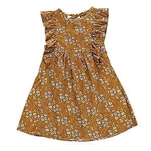 HEETEY - Pelele para niña, para bebés, Verano, Estampado de Flores, sin Mangas, Vestido de Verano, Princesa, Vestido de… 6