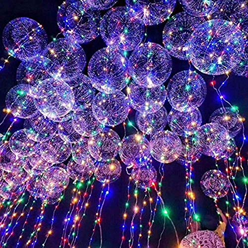 oamore LED Bobo Balloon Luz de Cadena Reutilizable Globo Creativo para la Boda de cumpleaños Fiesta de Navidad Decorativo (1pcs)