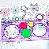rungao 1pieza Espirógrafo Regla geométrica diseño de espiral arte clásico juguete papelería