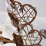 Rattanherzen als Streudeko für die Tischdeko bei der Hochzeit, Weihnachten, romantische Deko Herzen für Valentinstag, Heiratsantrag, 20 Stck. - 2