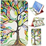 T330 Case,Samsung Galaxy Tab4 8.0 Inch T330 Case,Gift_Source Brand Colorful Tree Tribe - PU Leather Unique Wallet Case Soft TPU Case Cover with Card Slots for Samsung Galaxy Tab 4 8.0 SM-T330/SM-T331/SM-T335 Tablet,Sent Screen Protector + Stylus Pen
