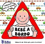 Detalles Infantiles Autocollant triangulaire pour la voiture Motif bébé Inscription en espagnol «Bebé a bordo» (français non garanti)