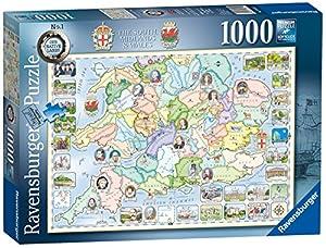 Ravensburger Our Native Lands No.1 - Puzzle de 1000 Piezas, Color Azul y Blanco