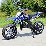 Kinder Mini Crossbike Delta 49 cc 2-takt Dirt Bike Dirtbike Pocket Cross Mini Bike blau