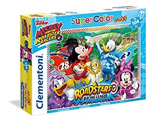 Clementoni 23715 Mickey and The Roadster Racers - Máxima de Puzzle, 104 Piezas
