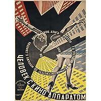 ALEXANDER RODCHENKO Poster lucido, formato A3, motivo: costruttivismo dell'unione sovietica,
