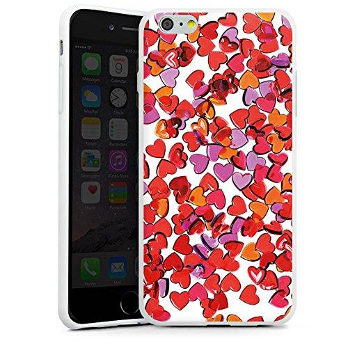 Apple iPhone X Silikon Hülle Case Schutzhülle Liebe Herz Muster Silikon Case weiß