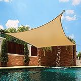 Greenbay Anti-UV Sun Shade Sail Garden Patio Party Sunscreen Canopy 98% UV Block Square Sand 3.6x3.6m