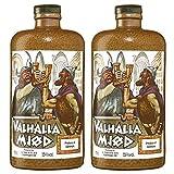 Valhalla Mjöd Mjød Im Steinkrug (2 X 0.7 L) Met Vikinger Bier Honigwein Im Ton Krug