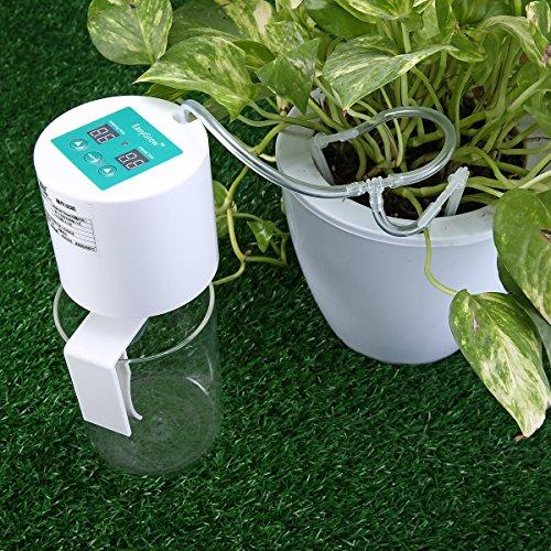 KingSo Tropfbewässerung kit DIY Bewässerungssystem auto bewässerungssystem urlaub pflanzen gießen (mit Controller und 10 Meter Rohr und 10 Tropfen Köpfe)