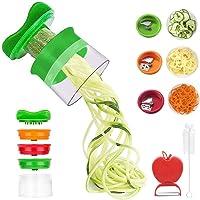 Cinati Spiralizer legume,Coupeur de légumes Coupe,spirale Râpe à légumes à la main avec 3 couteaux pour carottes/pommes…