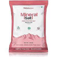 NutroActive MineralSalt Himalayan Pink Rock Salt , Medium Size Grain (3-5 mm) 200 g