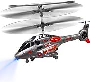 VATOS Helicóptero del RC, Helicóptero con Giroscopio Helicóptero de Control Remoto con Giroscopio Serie Militar Helicóptero para Niños y Adultos Interior al Aire Libre Regalo para Niños Niñas