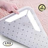 Glitz Star 8 Stück Teppichgreifer Anti-Rutsch Teppich-Pad Selbstklebend und Rutschfest Wiederverwendbare Klebrige