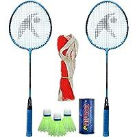 Hipkoo HR 15 Badminton Combo with Badminton Bag (2 Rackets, Net, Shuttlecock Pack of 3) Badminton Kit