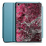 Apple iPad Mini 4 Smart Case hellblau Hülle Tasche mit Ständer Smart Cover Stone Stein Struktur