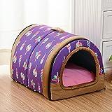 Forma de bolso lavable mascotas perro gato cachorro cama cálido casa con un cojín extraíble