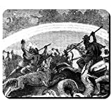 Ragnarök Kampf untergehende Götter Friedrich Wilhelm Heine Götterdämmerung Weltenbrand Odin Thor Loki - Mauspad Mousepad Computer Laptop PC #16109