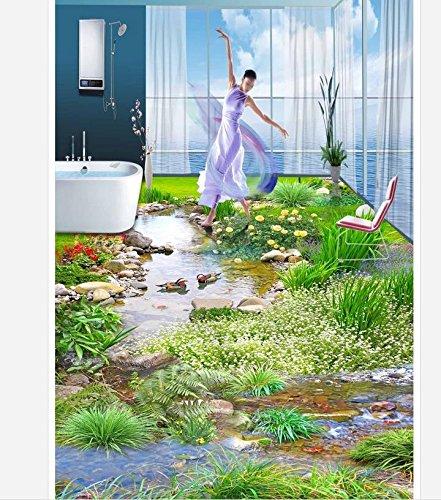 Chlwx 300cmX200cm (118.1inX78.263in) 3D Wallpaper Wasserdicht Pflanze Blumen, 3D, Malerei, 3D Wallpaper Wallpaper