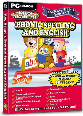 Kid's Academy - Key Stage 1 Phonic Spelling and English  - 4-7 Years (PC CD) Test