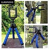Europezwq Mini trépied flexible Octopus Support Support pour iPhone Samsung...