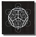 Sacred geometry - embroidered patch 8 x 8 cm