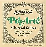D'Addario EJ48 - Juego de cuerdas para guitarra acústica y guitarra clásica de bronce y nylon, .0285 - .044 (tensión alta)
