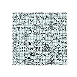 DIYthinker Blau handgemaltes Math Lineal Rechner Illustration Anti-Rutsch-Boden Haustier-Matten-Platz Badezimmer Wohnzimmer Küche Tür 60/50cm Geschenk 60X60Cm Mehrfarbig