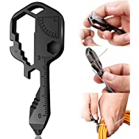 Chiave Multifunzionale in Acciaio Inossidabile | Portachiavi Multifunzionale 24 in 1 | Mini Strumento Chiave Portatile…