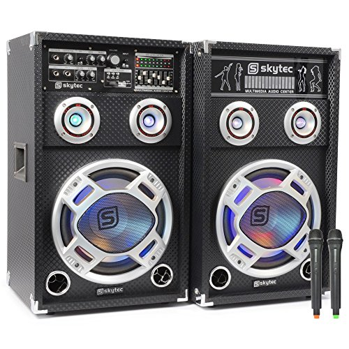 Skytec SPD-10 V – Public Address Systems (2-Way, Freestanding, Wired, AC, Built-in, Black)