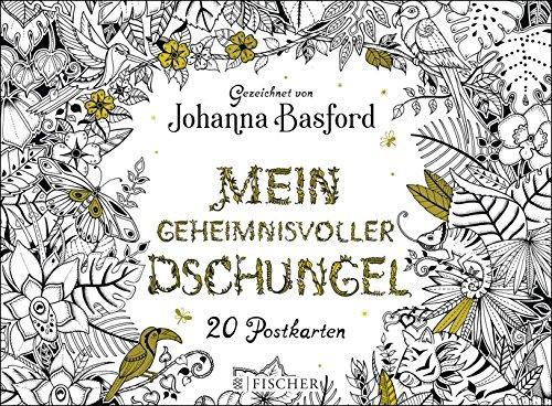 Buchseite und Rezensionen zu 'Mein geheimnisvoller Dschungel: Postkartenbuch' von Johanna Basford