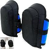 Gel-Knieschoner | 2 Stück in Unigröße | elastische | stufenlos verstellbare Stoffriemen - Paar Gel Knieschützer Knieschutz Kniepolster