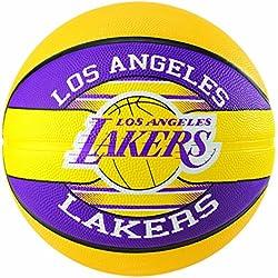 Spalding NBA Team L.A. Lakers Ballon de Basket Mixte Adulte, Multicolore, 5
