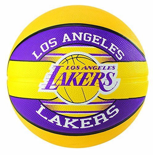 Spalding NBA Team L.a. Lakers 83-585Z Balón de Baloncesto, Unisex, Multicolor, 5
