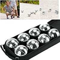 OGORI 8 Steel French Petanque Boules Balls Garden Game Set with Free Gift Boules Bag