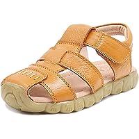 Gaatpot Boy's Girl's Closed Toe Sandals Kids Outdoor Leather Fisherman Sandals Summer Casual Flat Beach Walking Shoes…