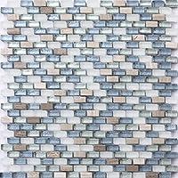 Glasmosaik Fliesen Perlmutt Effekt Amazonas