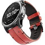 NotoCity Fenix 6X/5X Plus Strap, Lederen 26mm Quick Fit Horloge Band voor Garmin Fenix 6X/6X Pro/5X/5X Plus/3/3 HR/Descent Mk