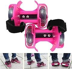 Wembley Toys Street Gliders Roller Skates, LED Light-up Wheels (2 Wheels) (Pink)