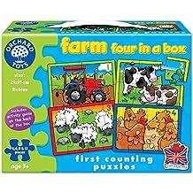 Orchard Toys - Caja con 4 puzzles, diseño de la granja