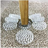 Medipaq CARPET SAVERS - NO More Furniture Marks On Your CARPET! *53 spikes each - Pack of 8 Castor Cups/Protectors*